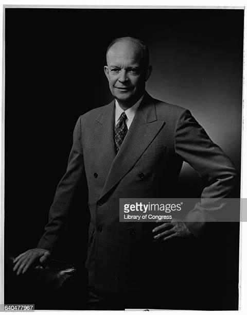 Eisenhower, Dwight, Pres. U.S., 1890-1969 3/4 lgth., standing, Photoprint, c1952 by Fabian Bachrach Pres. File Photog. 19 P