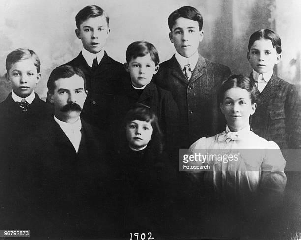 Eisenhower family portrait circa 1902