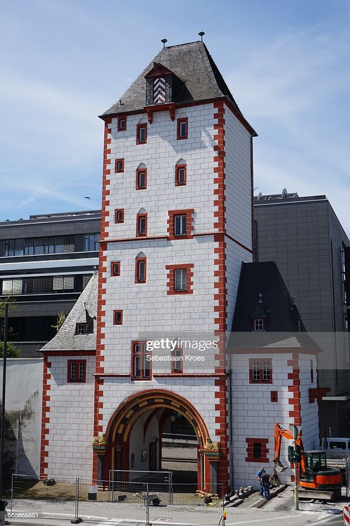 Eisenturm in sunshine, Mainz, Germany : Stock Photo