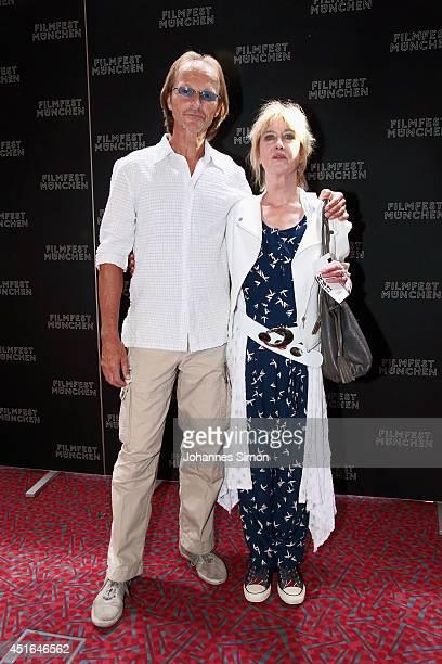 Eisi Gulp and Beatrice Richter attend the 'Die reichen Leichen Ein Starnbergkrimmi' premiere as part of Filmfest Muenchen at CarlOrffSaal on July 3...