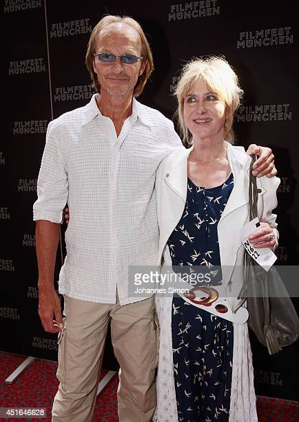 Eisi Gulp and Beatrice Richter attend the 'Die reichen Leichen Ein Starnbergkrimmi' premiere as part of Filmfest Muenchen at CarlOrffSaal on July 3...