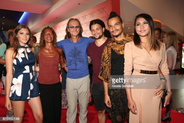Eisi Gulp and his wife Yvonne daughter Aliyah son Aaron and son Anthony and his girlfriend Tangmo during the 'Griessnockerlaffaere' premiere at...