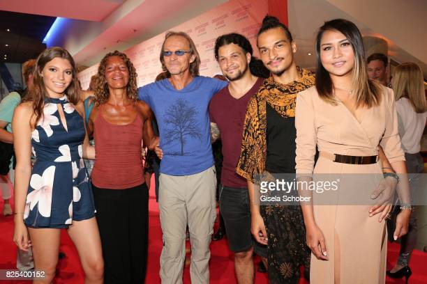 Eisi Gulp and his wife Yvonne, daughter Aliyah , son Aaron and son Anthony and his girlfriend Tangmo during the 'Griessnockerlaffaere' premiere at...