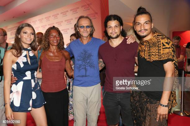 Eisi Gulp and his wife Yvonne, daughter Aliyah , son Aaron and son Anthony during the 'Griessnockerlaffaere' premiere at Mathaeser Filmpalast on...
