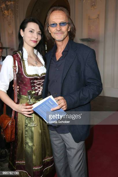 Eisi Gulp and Laura Heibei during the Summer Reception of the Bavarian State Parliament at Schleissheim Palace on July 10 2018 in Munich Germany
