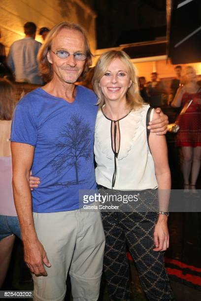 Eisi Gulp and Producer Kerstin Schmidbauer during the 'Griessnockerlaffaere' premiere after party at 'Wirtshaus Zum Straubinger' on August 1 2017 in...