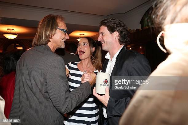 Eisi Gulp Doreen Dietel and her boyfriend Tobias Guttenberg during the premiere of the film 'Schweinskopf al dente' after party at restaurant 'Zum...