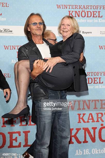 Eisi Gulp Enzi Fuchs attend the premiere of the film 'Winterkartoffelknoedel' at Filmtheater Sendlinger Tor on October 7 2014 in Munich Germany