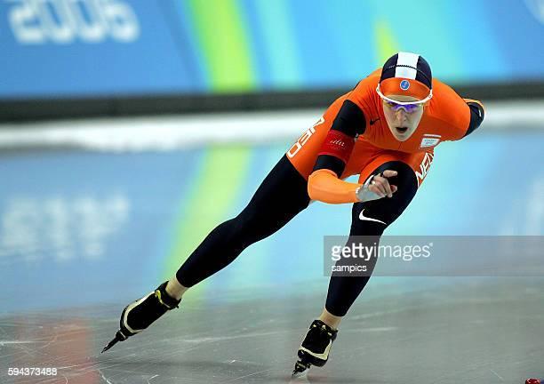 Eisschnelllauf Damen 3000m Speed skating 3000m ladies Ireen WUST NED olympische Winterspiele in Turin 2006 olympic winter games in torino 2006