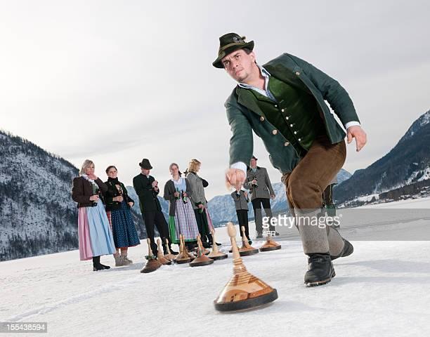 Eisstockschiessen 、カーリングの湖グルンドル湖