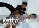 Eistänzerin GUS mit ihrem Partner Jewgeni Platow bei der EiskunstlaufWeltmeisterschaft in Chiba Japan