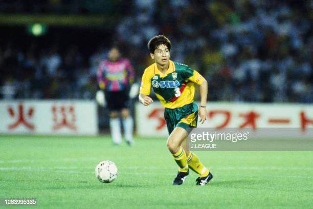 Eisuke Nakanishi of JEF United Ichihara in action during the J.League Suntory Series match between JEF United Ichihara and Gamba Osaka at the...