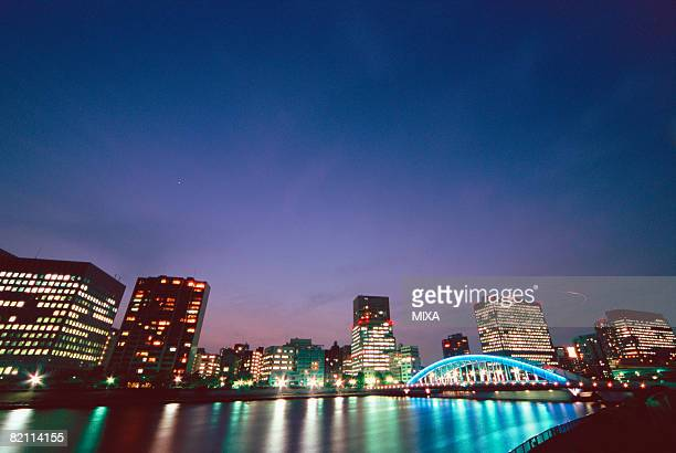eitai bridge, tokyo, japan - 永代橋 ストックフォトと画像