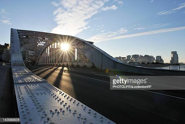 eitai bridge, tokyo prefecture, honshu, japan - 永代橋 ストックフォトと画像