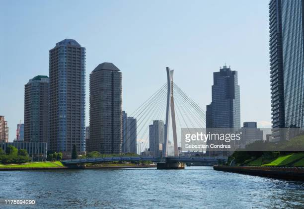 eitai bridge, tokyo, travel in japan. - 永代橋 ストックフォトと画像