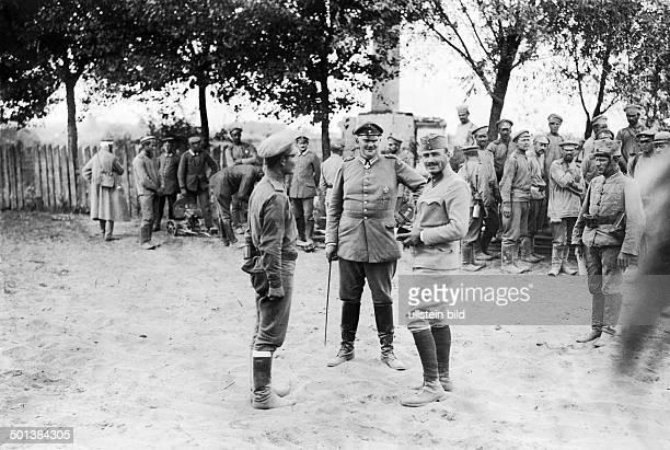 Eitel Friedrich Prince of Prussia 2nd son of German Emperor Wilhelm II Prince Eitel Friedrich and an AustroHungarian officer as interpreter...