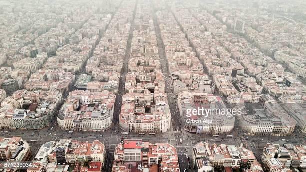 Barrio de Eixample en Barcelona
