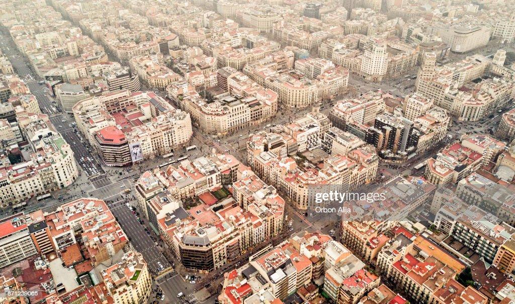 Eixample neighborhood in Barcelona : Stock Photo