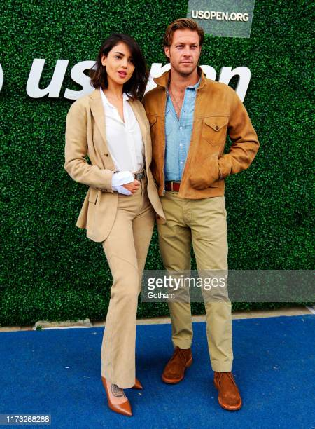 Eiza Gonzales and Luke Bracey at 2019 US Open Final on September 08, 2019 in New York City.
