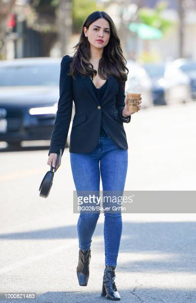 Eiza Gonzales is seen on February 14 2020 in Los Angeles California