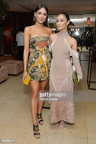 Eiza Gonzalez and Cara Santana attend Harper's BAZAAR celebration of the 150 Most Fashionable Women presented by TUMI in partnership with American...