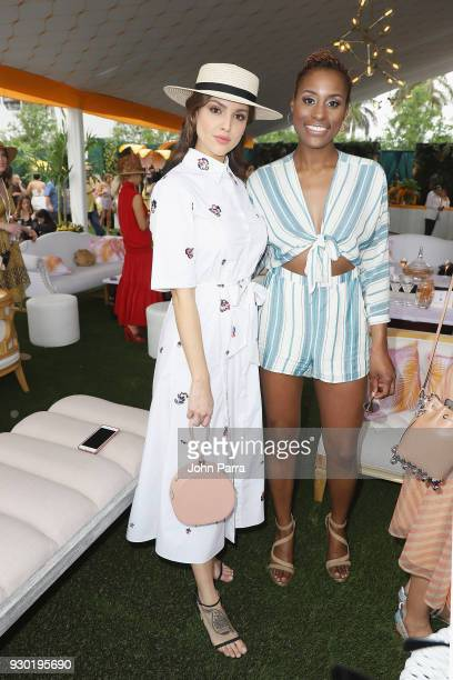 Eiza Gonzalez and Issa Rae attend the 4th Annual Veuve Clicquot Carnaval at Museum Park on March 10 2018 in Miami Florida