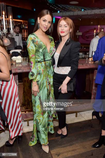 Eiza Gonzalez and Julianne Hough attend Lorraine Schwartz launches The Eye Bangle a new addition to her signature Against Evil Eye Collection at...