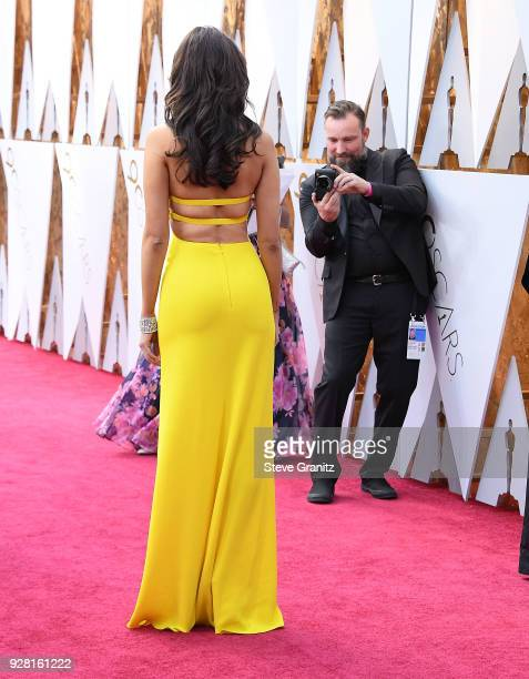 Eiza Gonzalez arrives at the 90th Annual Academy Awards at Hollywood Highland Center on March 4 2018 in Hollywood California