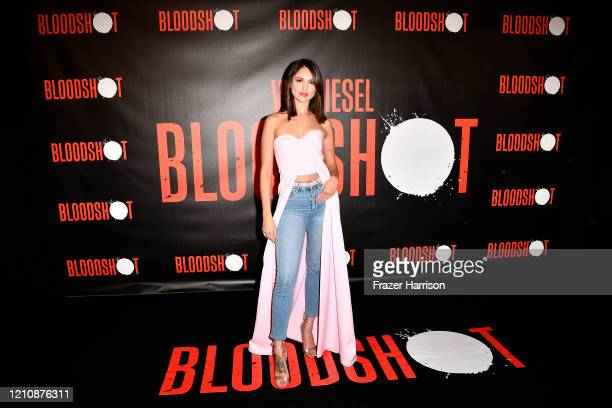 """Eiza Gonzalez attends a photocall for Sony Pictures' """"Bloodshot"""" at The London Hotel on March 06, 2020 in West Hollywood, California."""