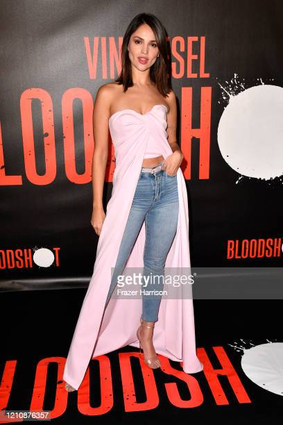 Eiza Gonzalez attends a photocall for Sony Pictures' Bloodshot at The London Hotel on March 06 2020 in West Hollywood California