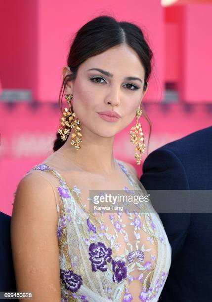 Eiza Gonzalez attends the European premiere of 'Baby Driver' at Cineworld Leicester Square on June 21 2017 in London United Kingdom