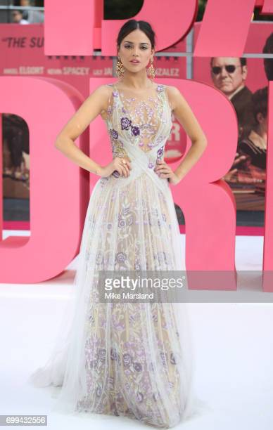 Eiza Gonzalez attends the European premiere of 'Baby Driver' on June 21 2017 in London United Kingdom