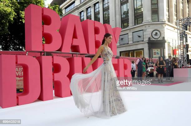 Eiza Gonzalez attends the European Premiere of Sony Pictures 'Baby Driver' on June 21 2017 in London England