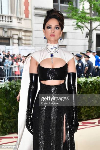 Eiza Gonzalez attends the Heavenly Bodies: Fashion & The Catholic Imagination Costume Institute Gala at The Metropolitan Museum of Art on May 7, 2018...
