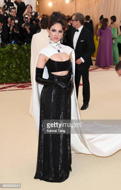 Eiza Gonzalez attends the Heavenly Bodies Fashion The Catholic Imagination Costume Institute Gala at Metropolitan Museum of Art on May 7 2018 in New...