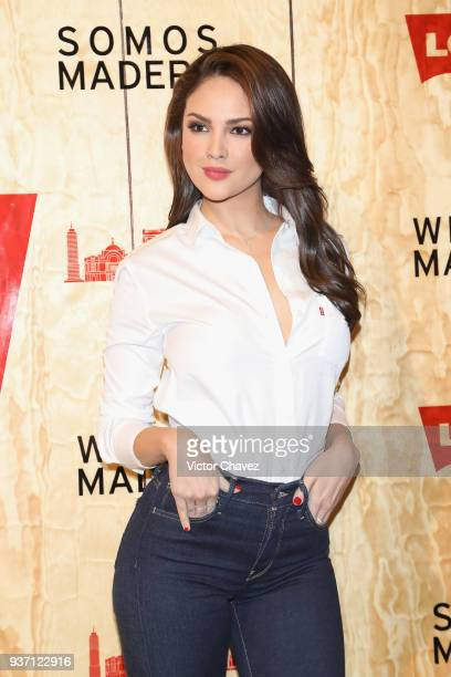 Eiza Gonzalez attends the Levi's Flagship Madero store opening at historical center streets on March 22 2018 in Mexico City Mexico