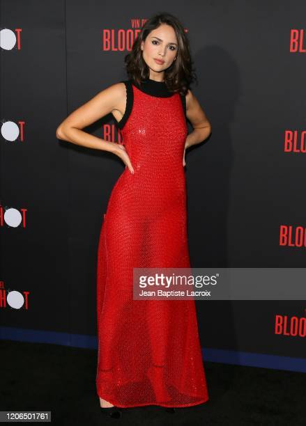 Eiza Gonzalez attends the premiere of Sony Pictures' Bloodshot on March 10 2020 in Los Angeles California