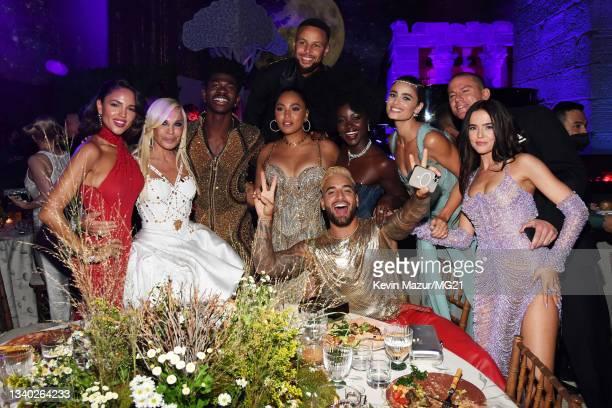 Eiza Gonzalez, Donatella Versace, Lil Nas X, Stephen Curry, Ayesha Curry, Lupita Nyong'o, Maluma, Taylor Hill, Channing Tatum, and Zoey Deutch attend...