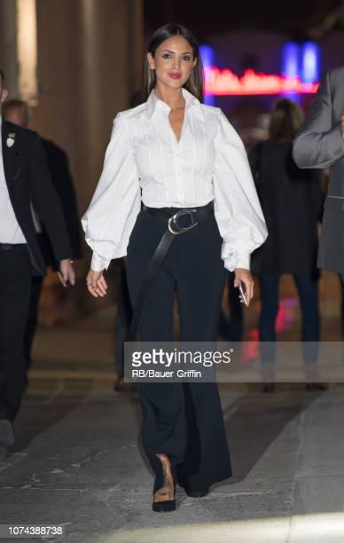 Eiza Gonzalez is seen at 'Jimmy Kimmel Live' on December 18, 2018 in Los Angeles, California.