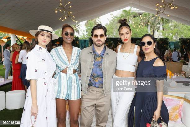 Eiza Gonzalez Issa Rae Edgar Ramirez Joan Smalls and Tessa Thompson attend the 4th Annual Veuve Clicquot Carnaval at Museum Park on March 10 2018 in...
