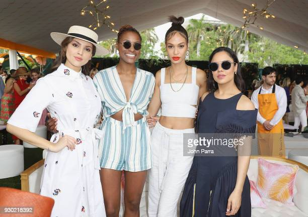 Eiza Gonzalez Issa Rae Joan Smalls and Tessa Thompson attend the 4th Annual Veuve Clicquot Carnaval at Museum Park on March 10 2018 in Miami Florida
