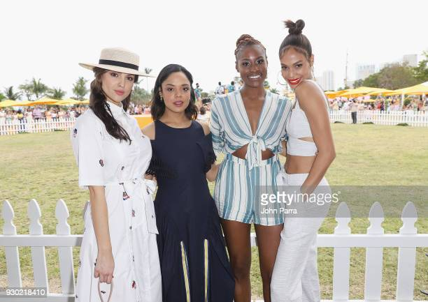 Eiza Gonzalez Tessa Thompson Issa Rae and Joan Smalls attend the 4th Annual Veuve Clicquot Carnaval at Museum Park on March 10 2018 in Miami Florida