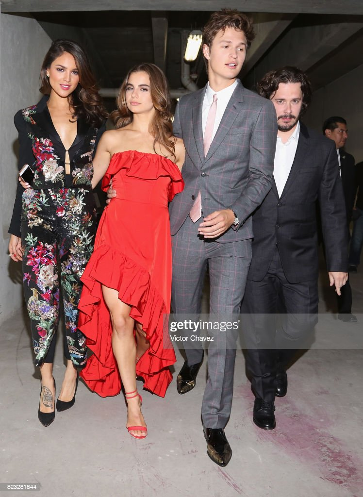 Eiza Gonzalez, Violetta Komyshan, actor Ansel Elgort, and Film director Edgar Wright attend the 'Baby Driver' Mexico City premier at Cinemex Antara Polanco on July 26, 2017 in Mexico City, Mexico.