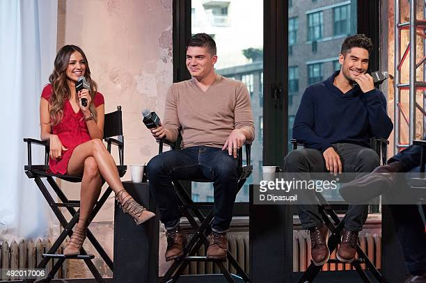 Eiza Gonzalez Zane Holtz and DJ Cotrona attend AOL Build Presents From Dusk Til Dawn The Series at AOL Studios In New York on October 9 2015 in New...
