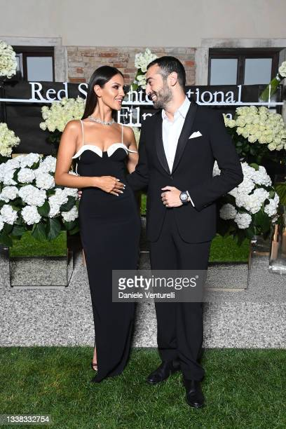 Eiza González and Mohammed Al Turki attend the Celebration of Women in Cinema Gala hosted by The Red Sea Film Festival during the 78th Venice...