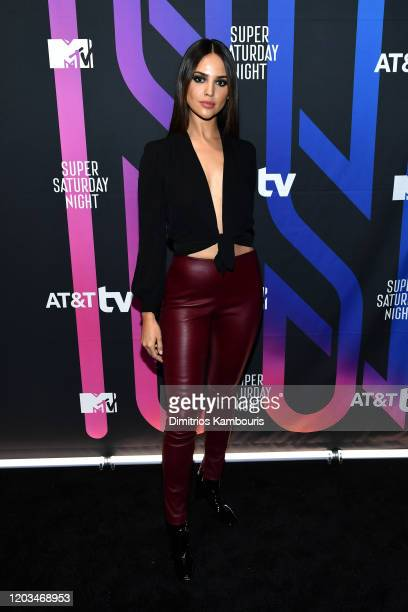 Eiza González attends ATT TV Super Saturday Night at Meridian at Island Gardens on February 01 2020 in Miami Florida