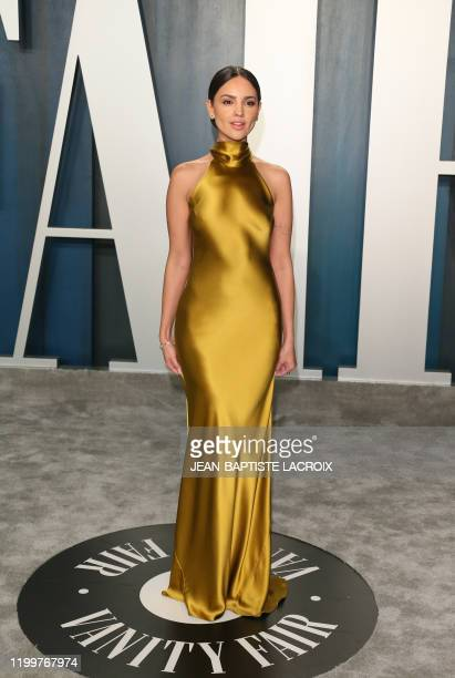 Eiza González attends the 2020 Vanity Fair Oscar Party following the 92nd annual Oscars at The Wallis Annenberg Center for the Performing Arts in...