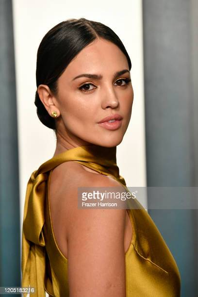Eiza González attends the 2020 Vanity Fair Oscar Party hosted by Radhika Jones at Wallis Annenberg Center for the Performing Arts on February 09 2020...
