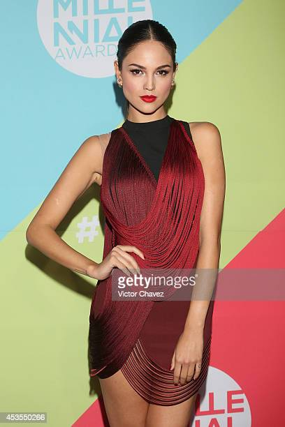 Eiza González attends the MTV Millennial Awards 2014 red carpet at Pepsi Center WTC on August 12 2014 in Mexico City Mexico