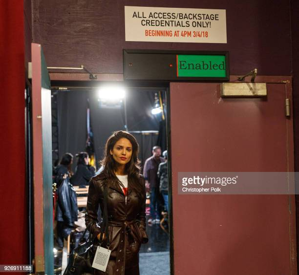 Eiza Gonz‡lez backstage during rehersals for the 90th Oscars at The Dolby Theatre on March 3 2018 in Hollywood California